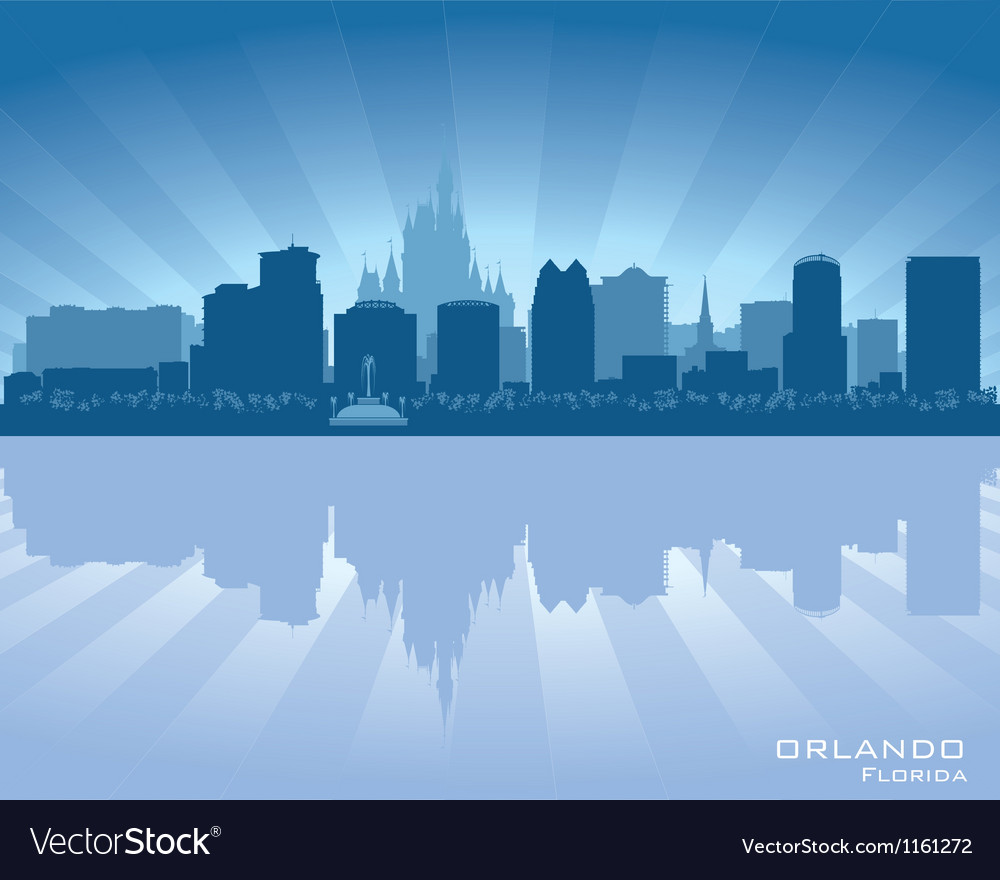 Orlando florida skyline city silhouette vector