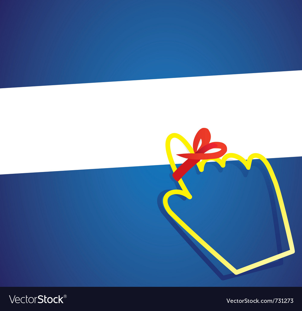 Hand cursor with remember ribbon vector