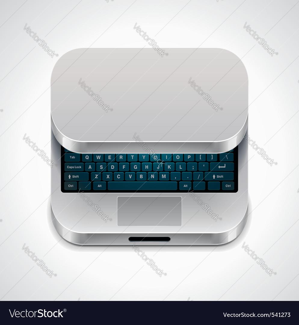 square laptop icon vector