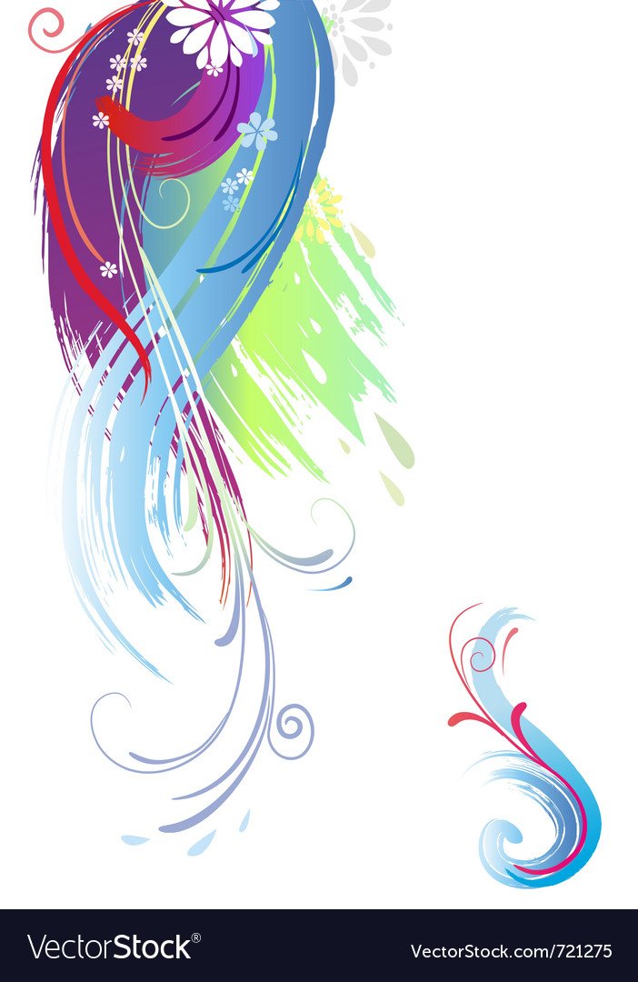 Background of color brush stroke vector