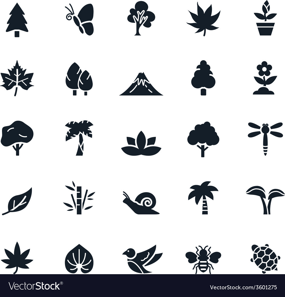 Natural icons vector