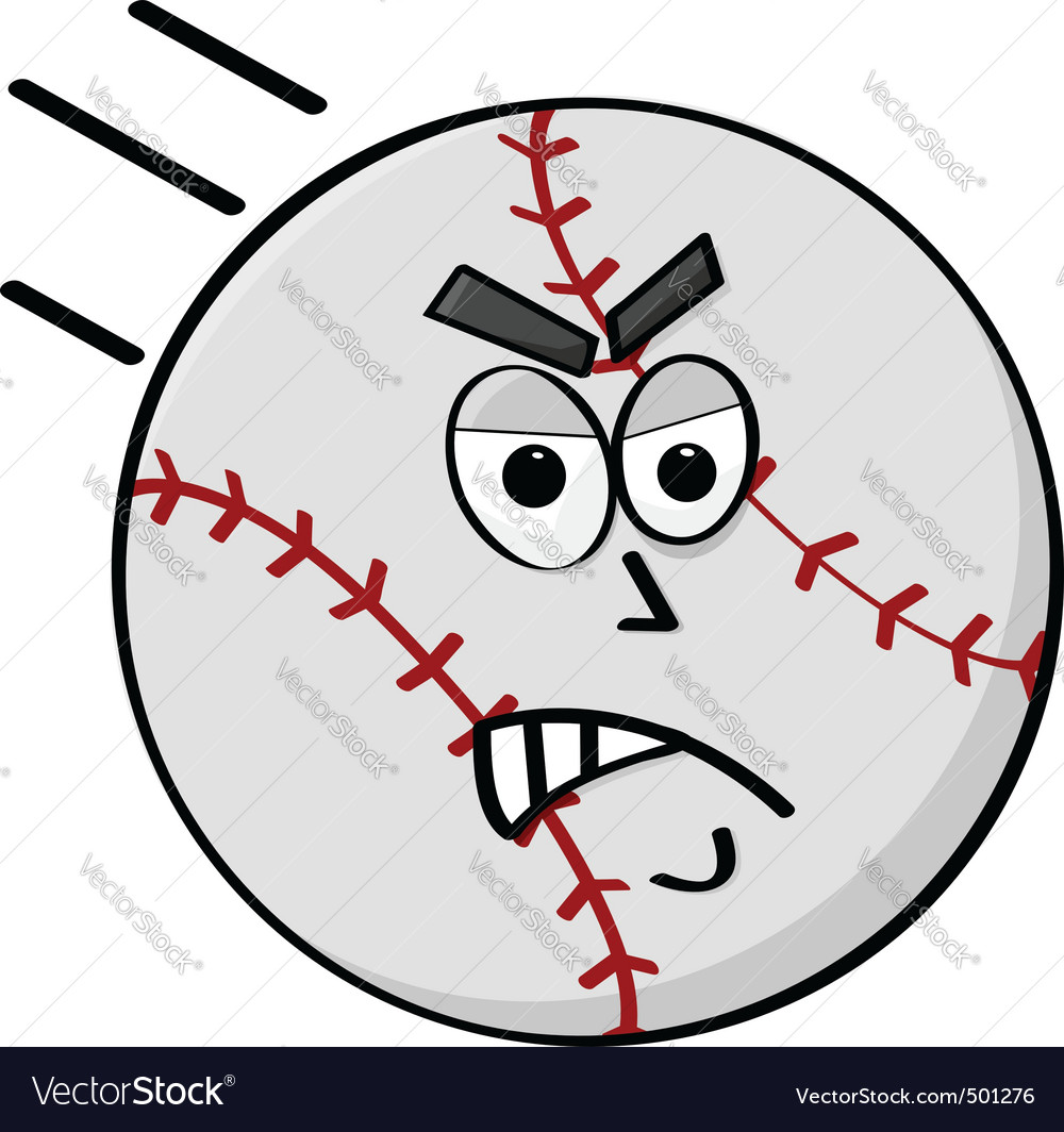 Angry baseball vector