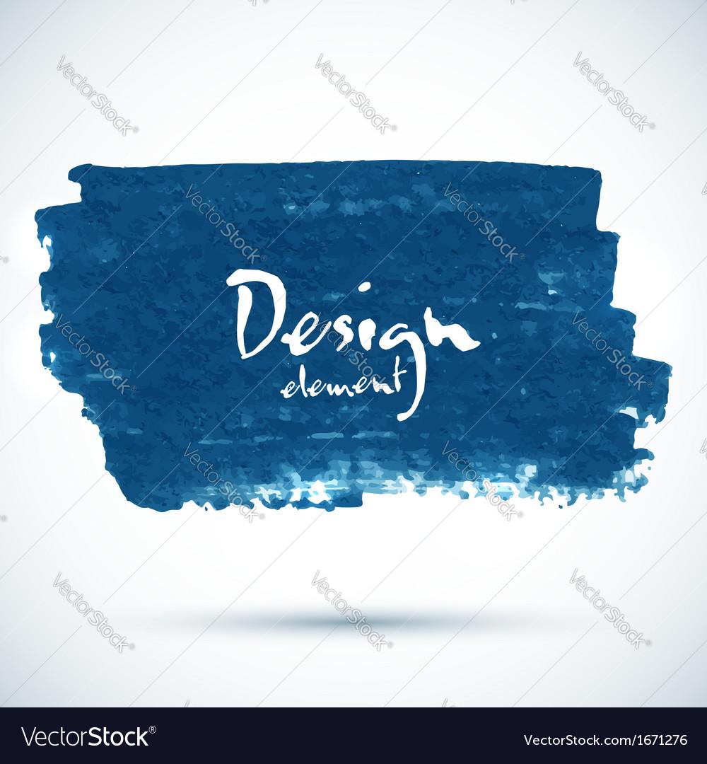 Dark blue paint grunge stain vector