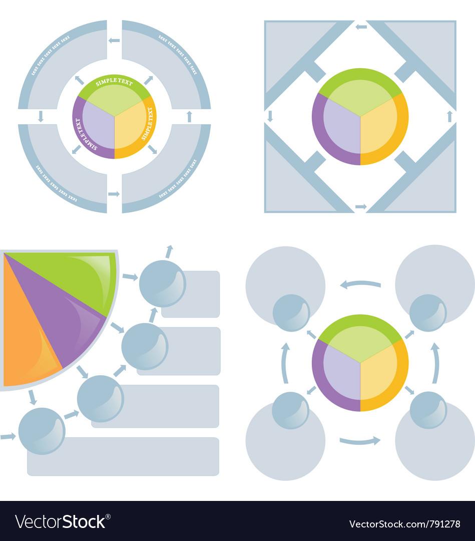 Set of chart flat vector