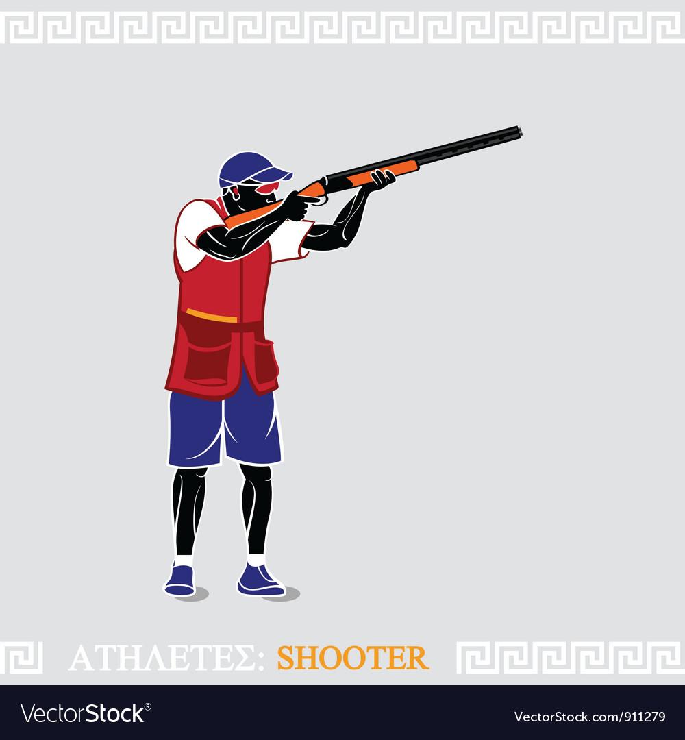Athlete shooter vector