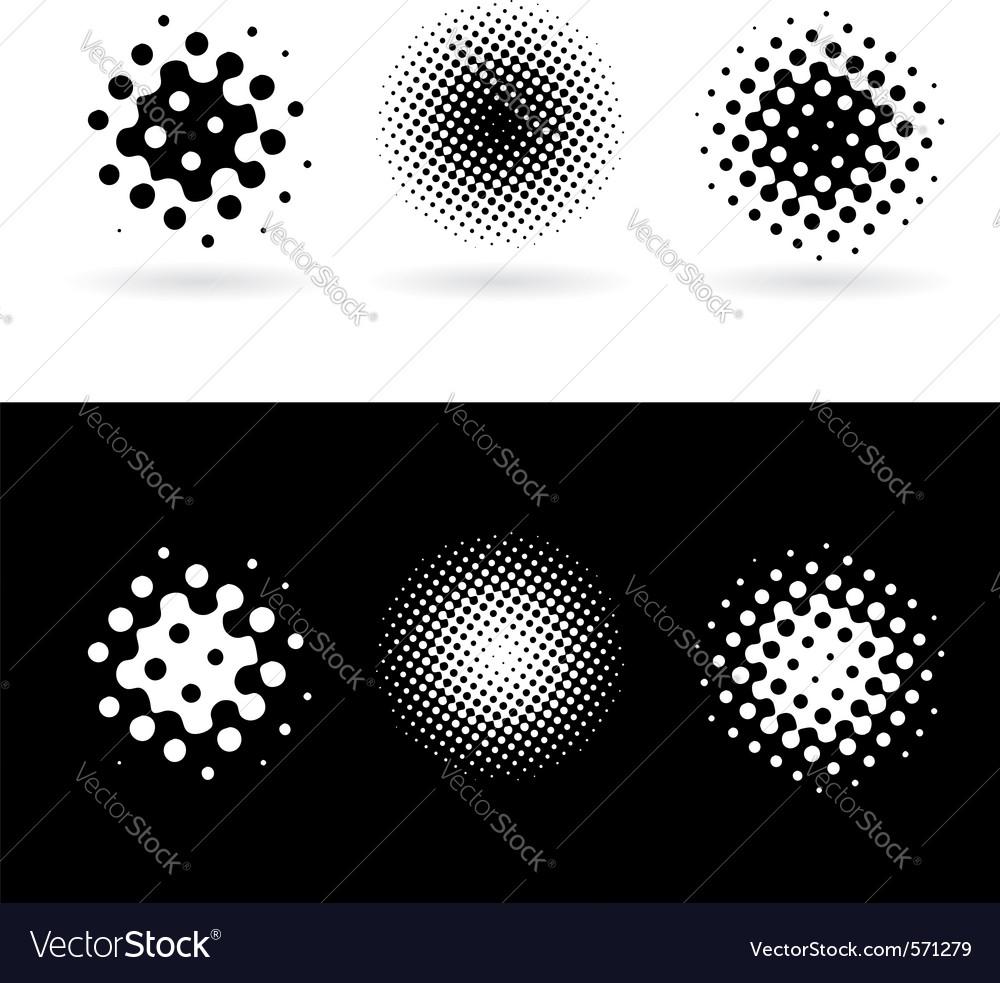 Halftone icons vector