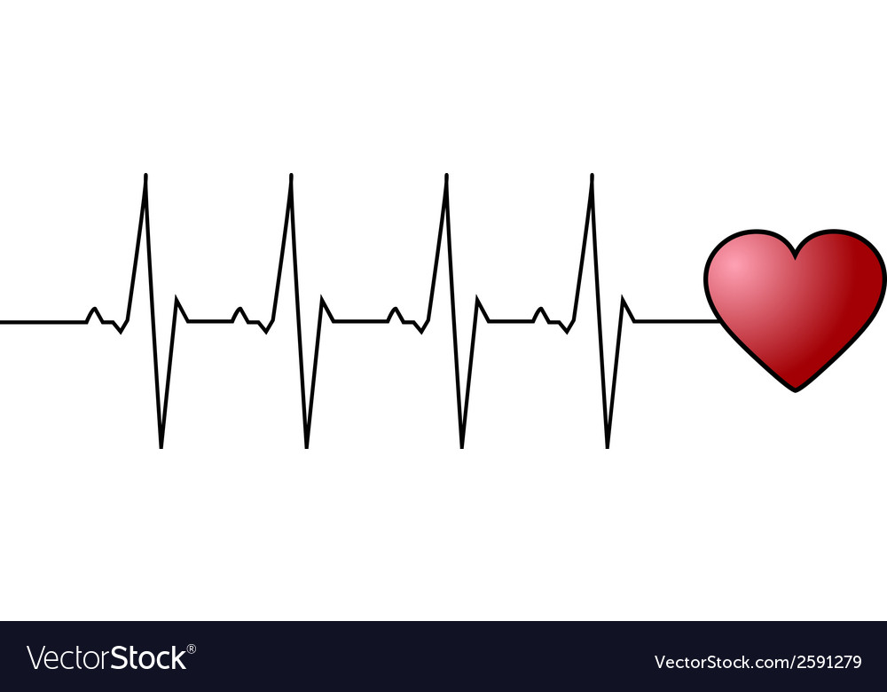 Love heart beat vector