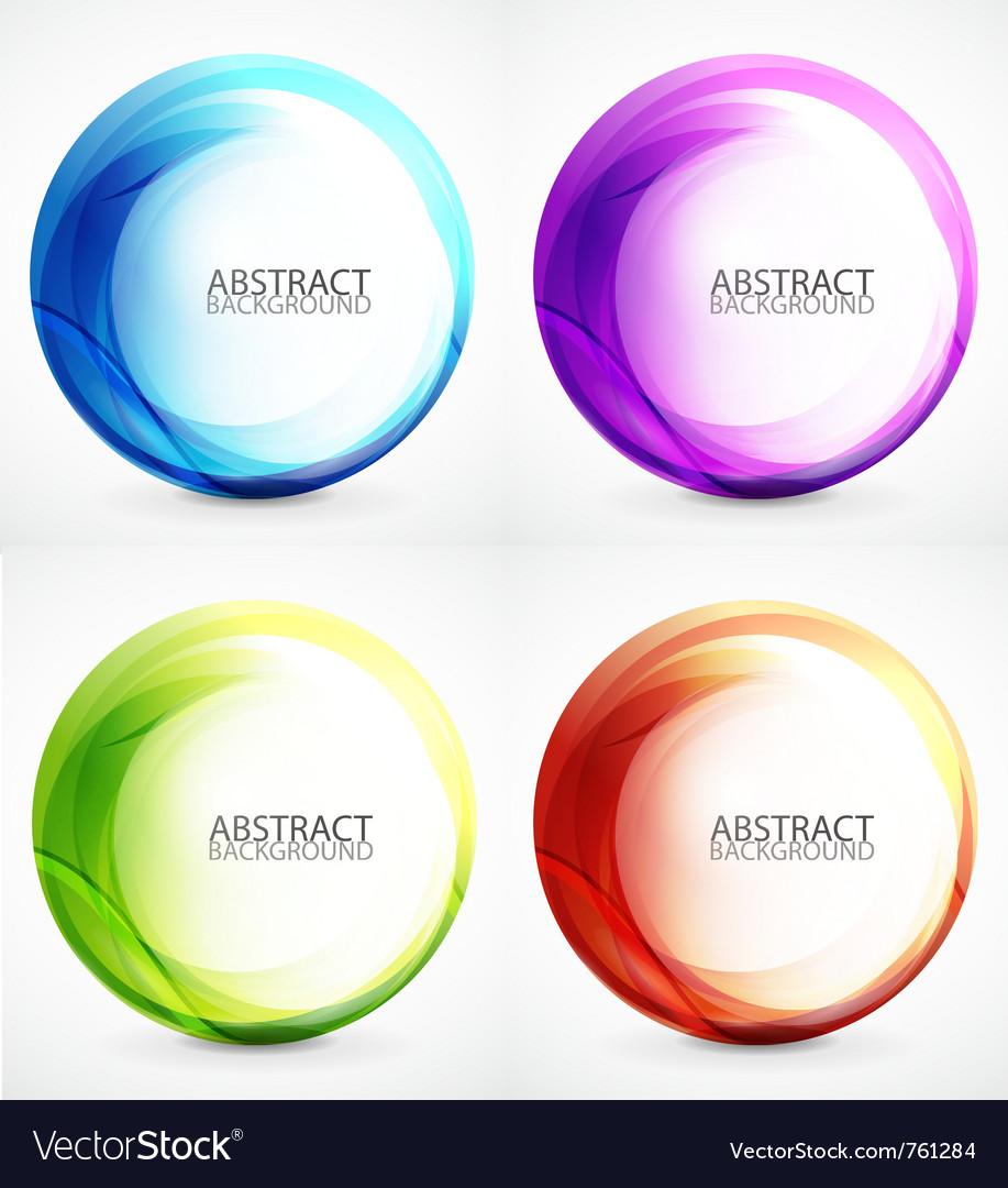 Swirl symbol icon background set vector