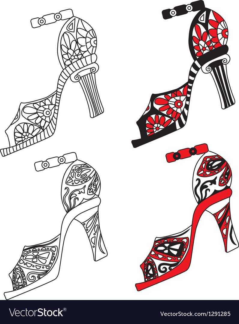 Shoes set vector