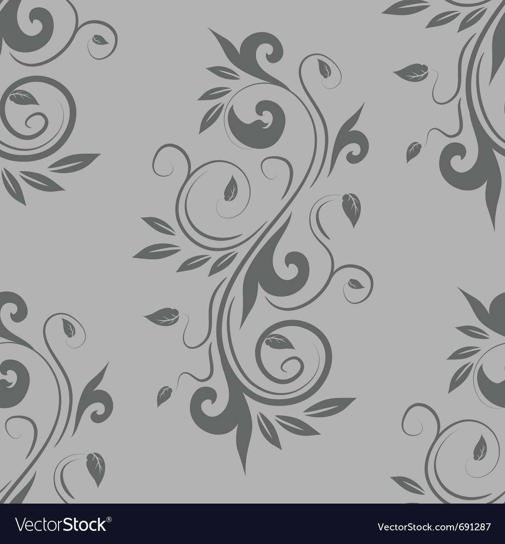 Decorative seamless floral vector