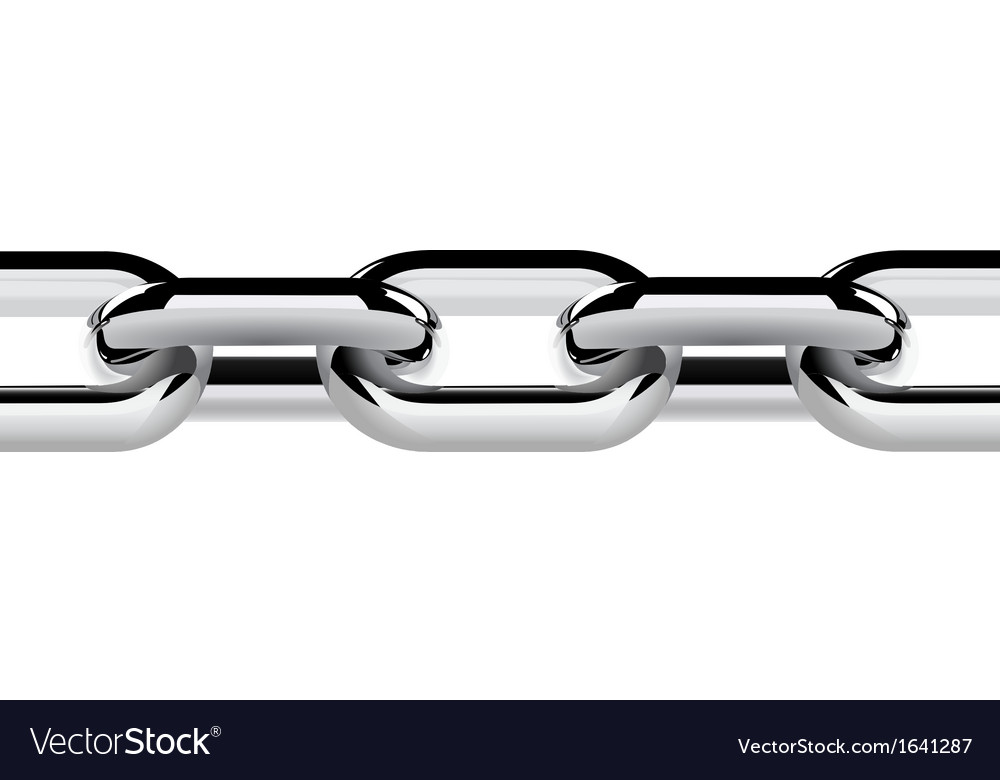 Stainless steel chain vector
