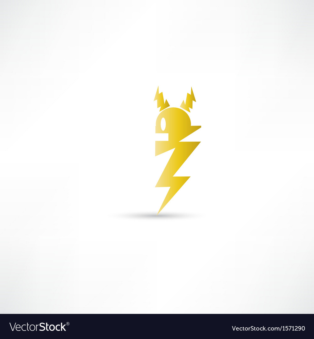Electric icon vector