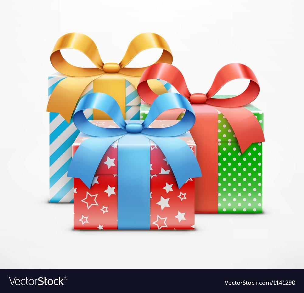 Present boxes vector