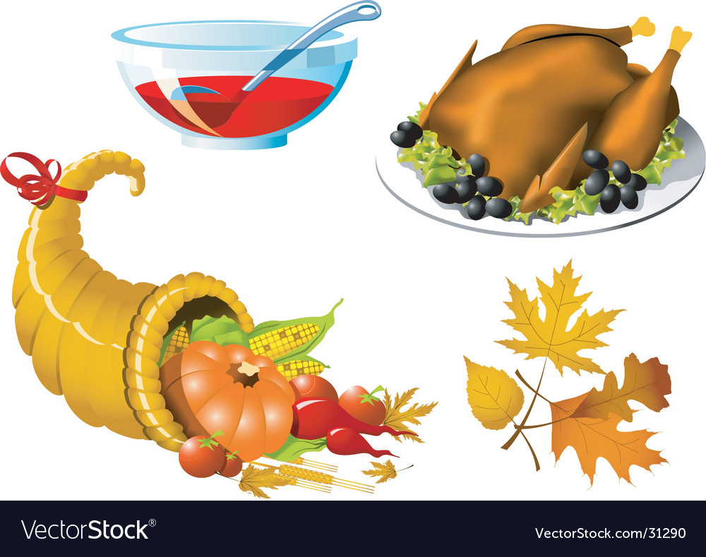 Thanksgiving symbols vector