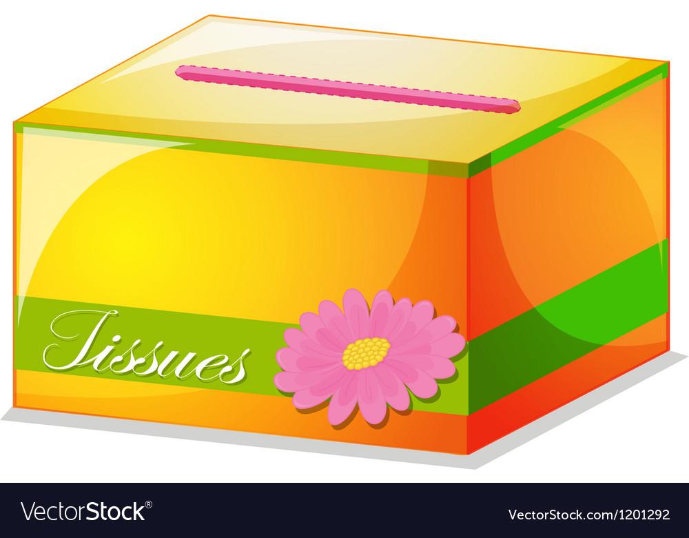 A colorful tissue box vector