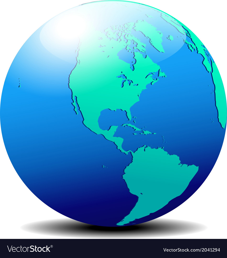 North and south america global world vector