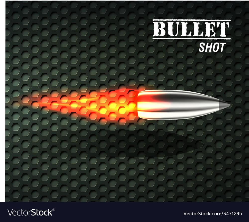 Bullet background concept vector