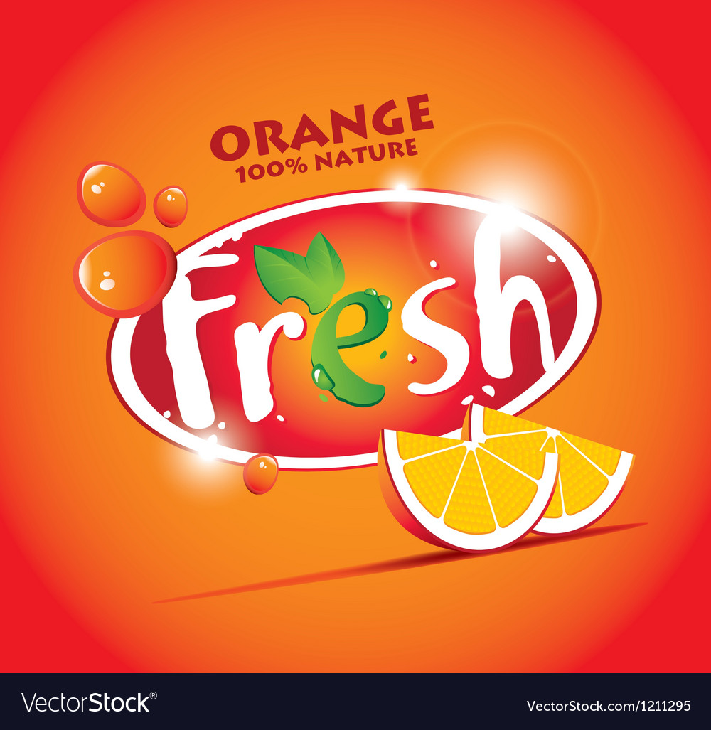 Fresh orange vector