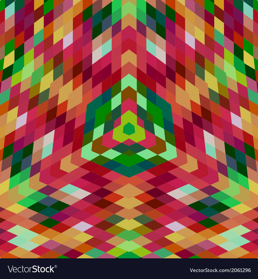 Retro backdrop of geometric shapes colorful mosaic vector