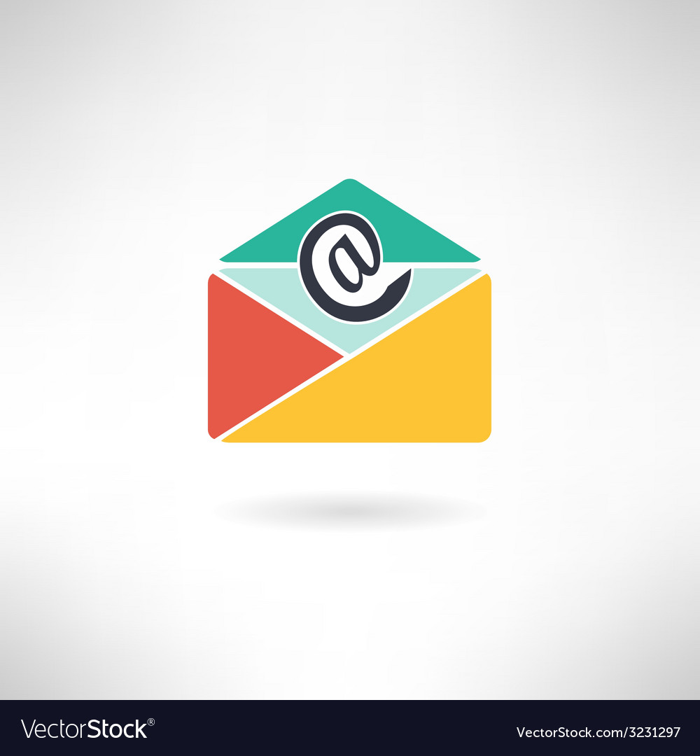 Internet mail in modern flat design vector