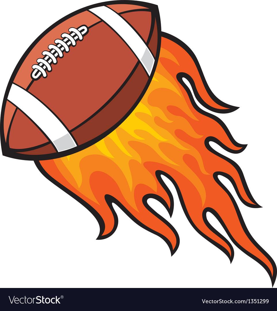 Football in fire vector