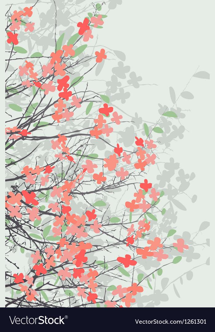 Spring blossom print vector