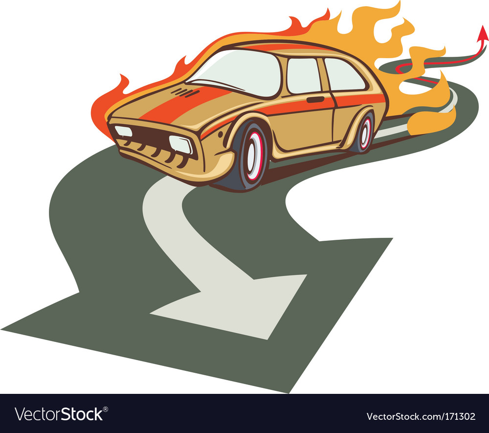 Fire racer vector