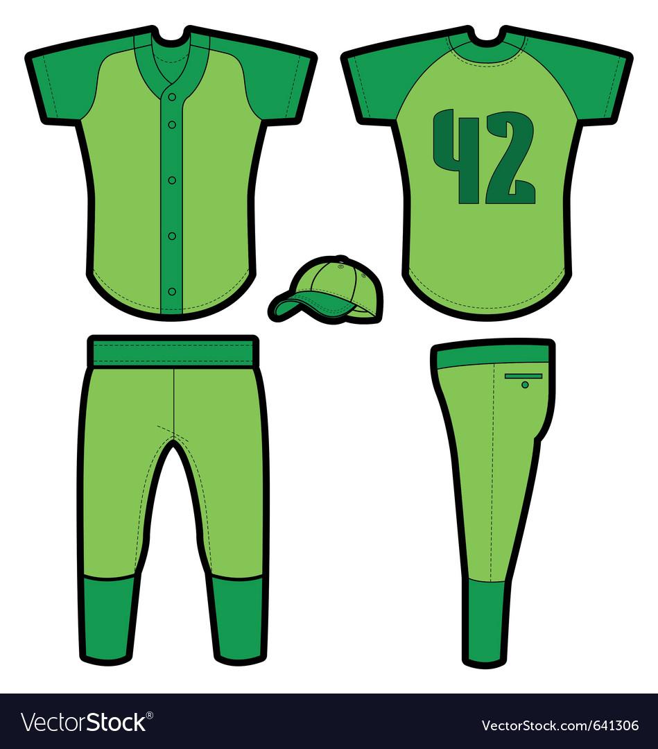 Baseball uniform vector