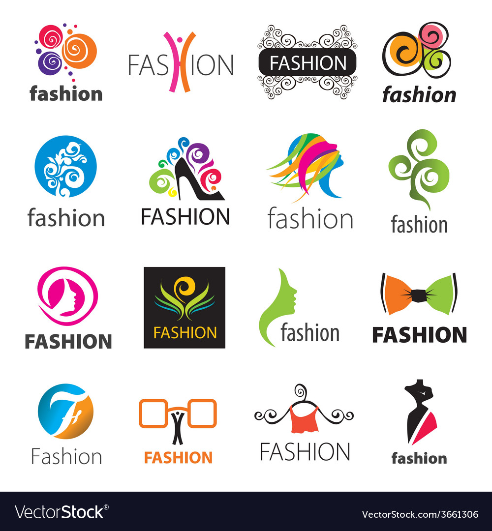 Biggest collection of logos fashion vector