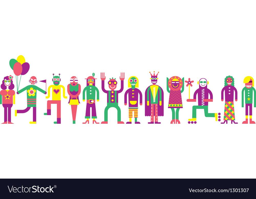 People line vector