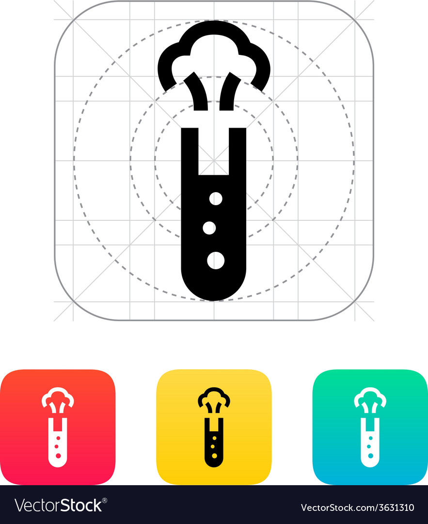 Test tube with dangerous substance icon vector