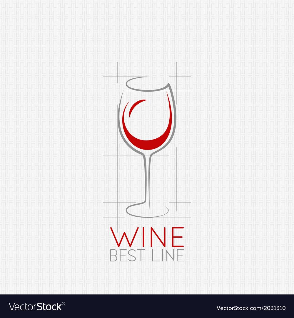 Wine glass design background vector