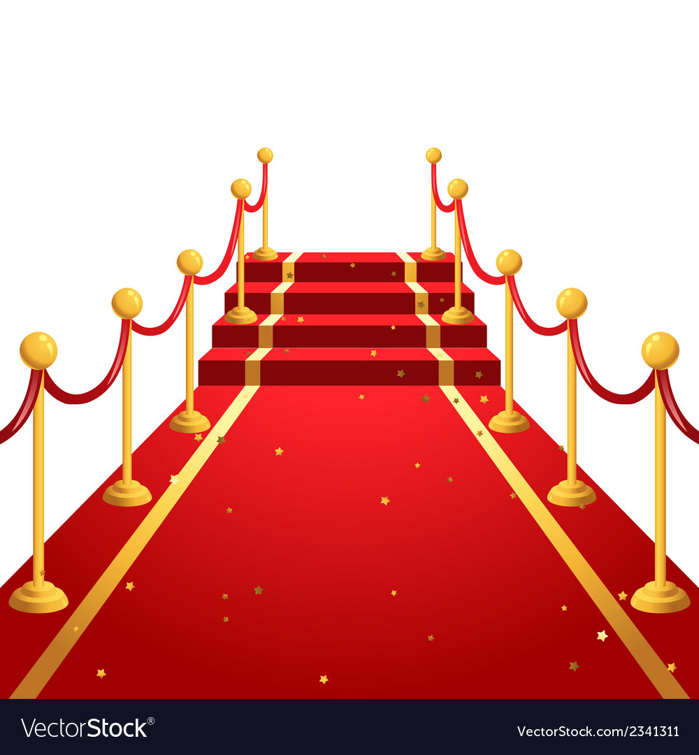 On the red carpet vector