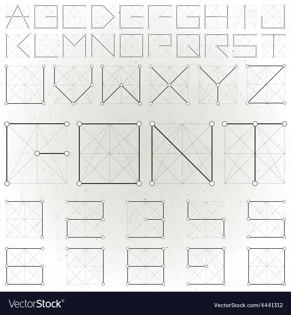 Abstract text design vector