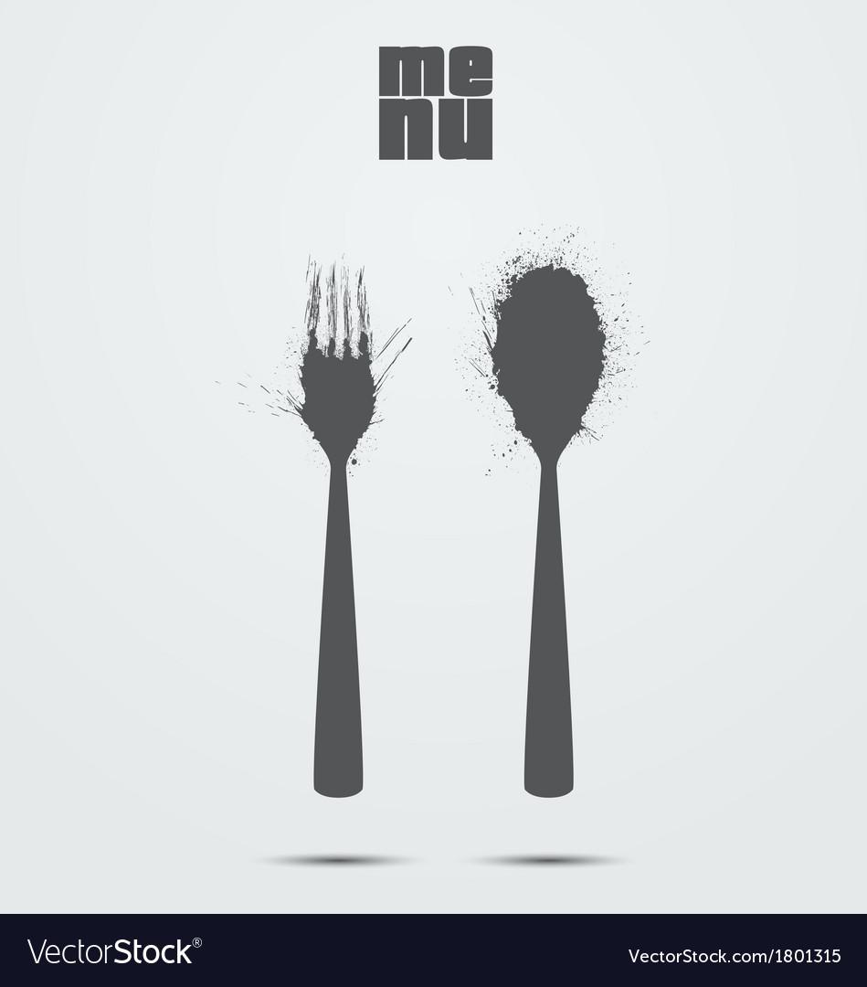 Restaurant menu card design vector