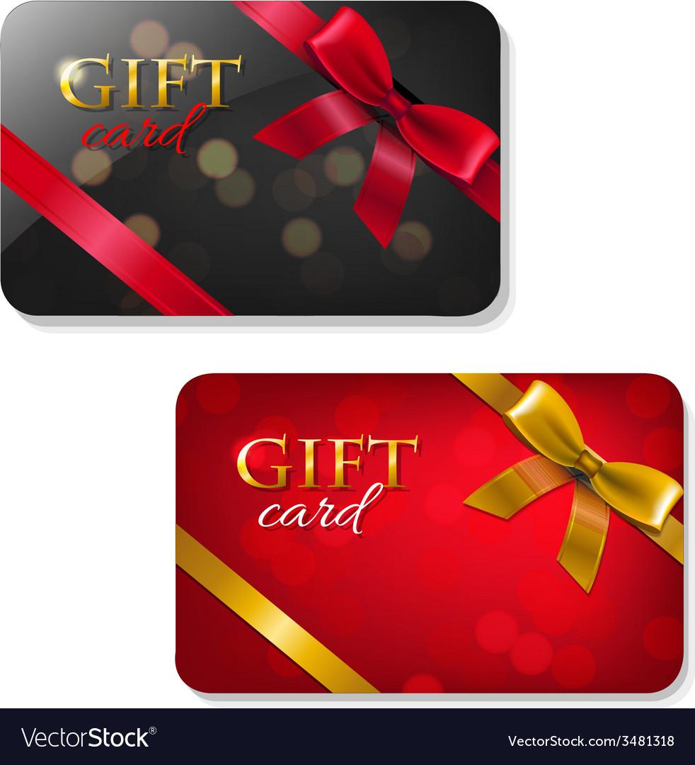 Gift cards big set vector