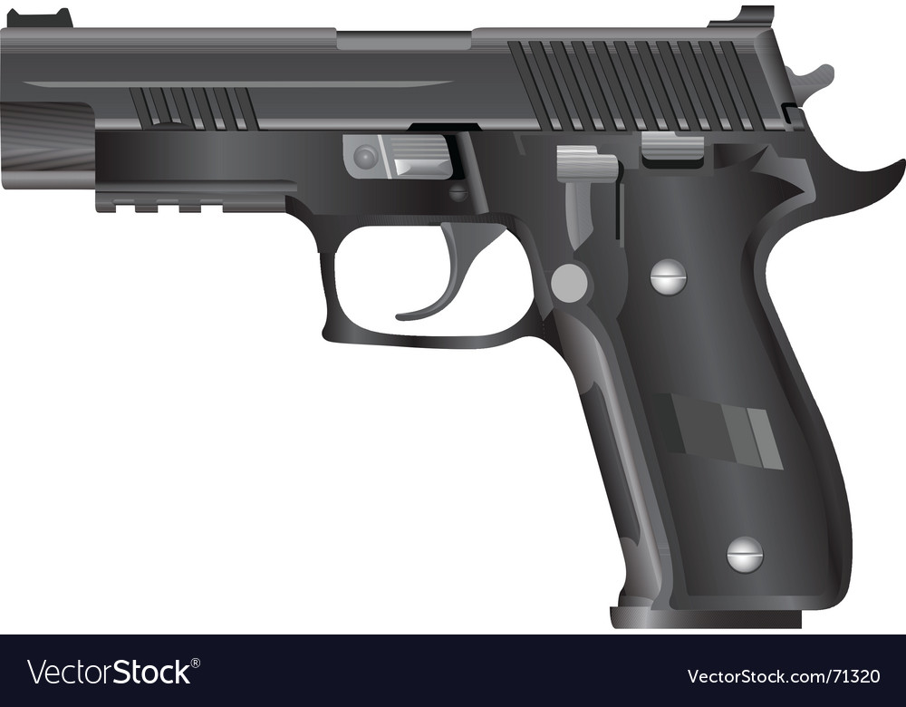 Modern pistol vector