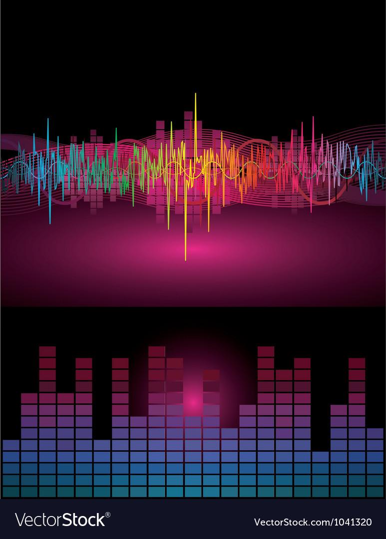Rainbow sound waves vector