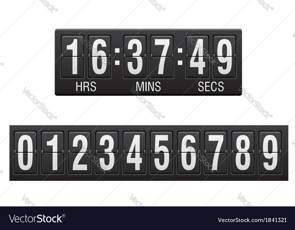 Countdown timer 01 vector