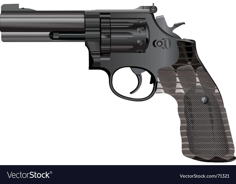Modern revolver vector