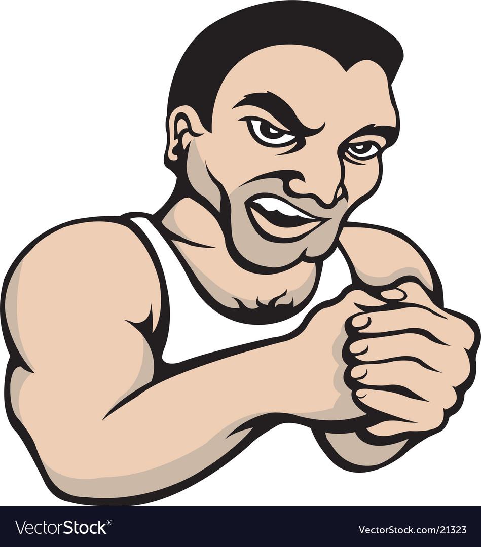 Tough guy vector