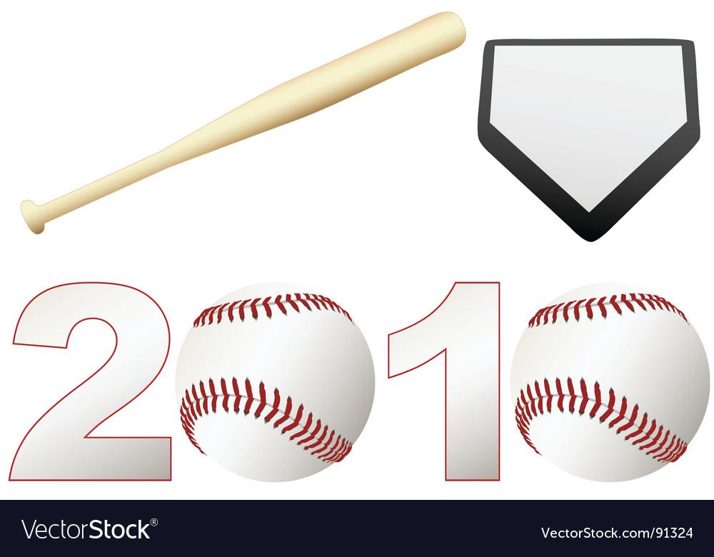 Baseball 2010 season vector