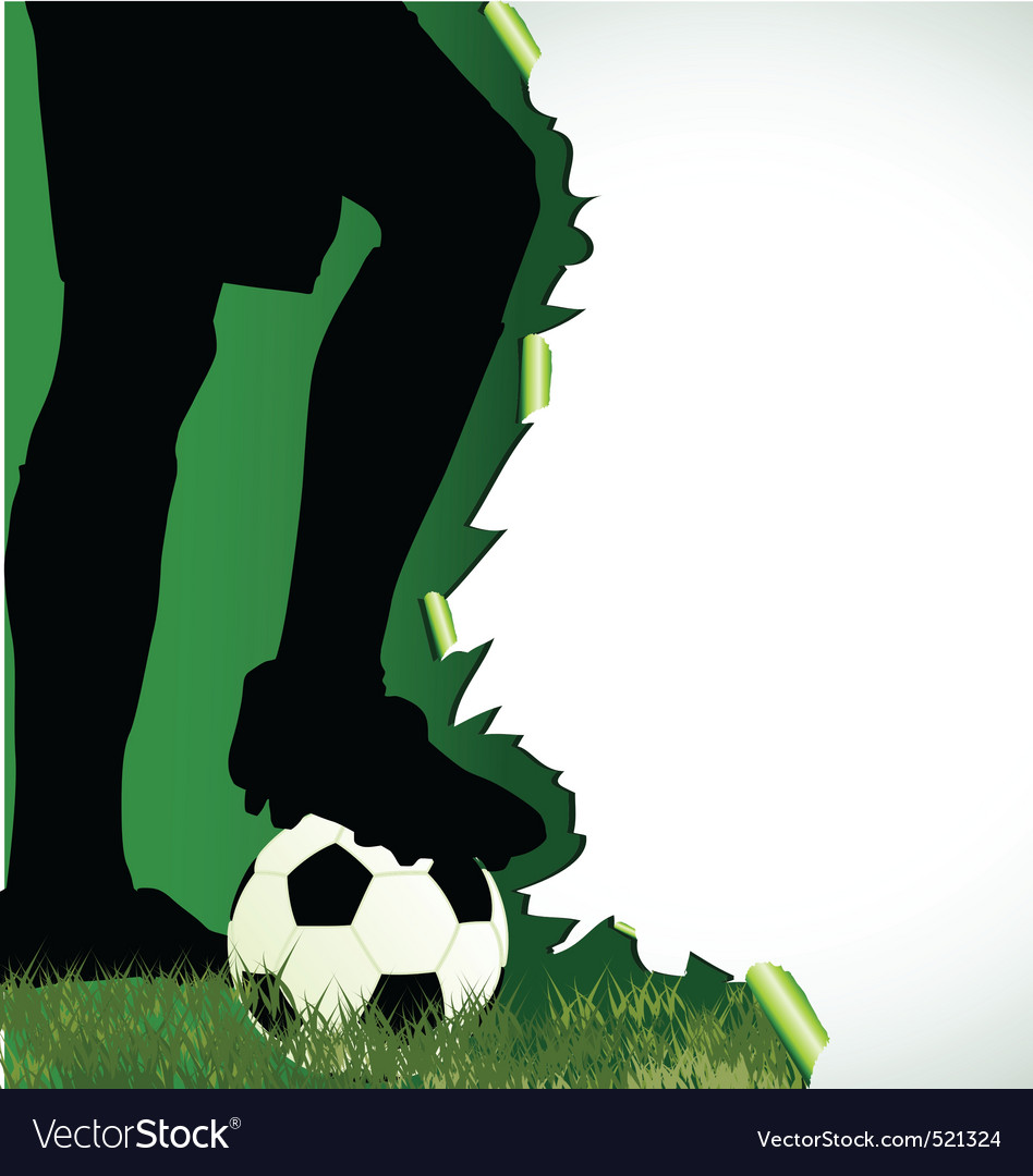 Football poster with soccer player silhouette vector