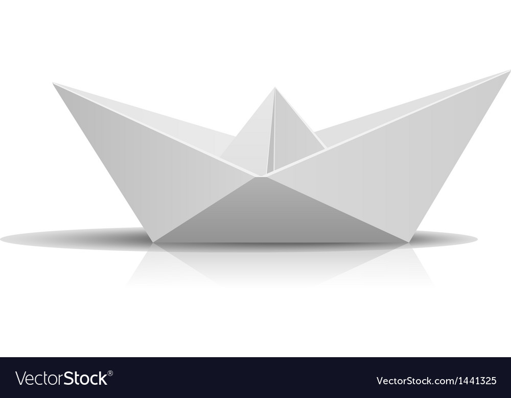 Paper ship vector
