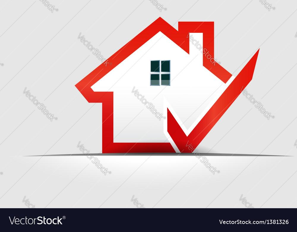 House check logo design element vector