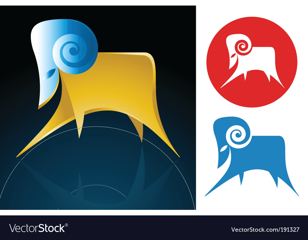 Aries zodiac sign vector