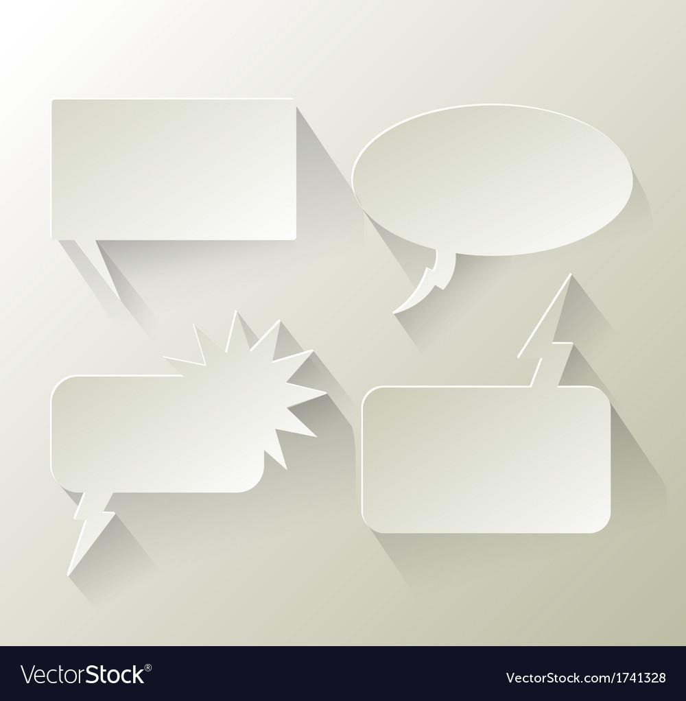 Abstract design speech bubble copyspace vector