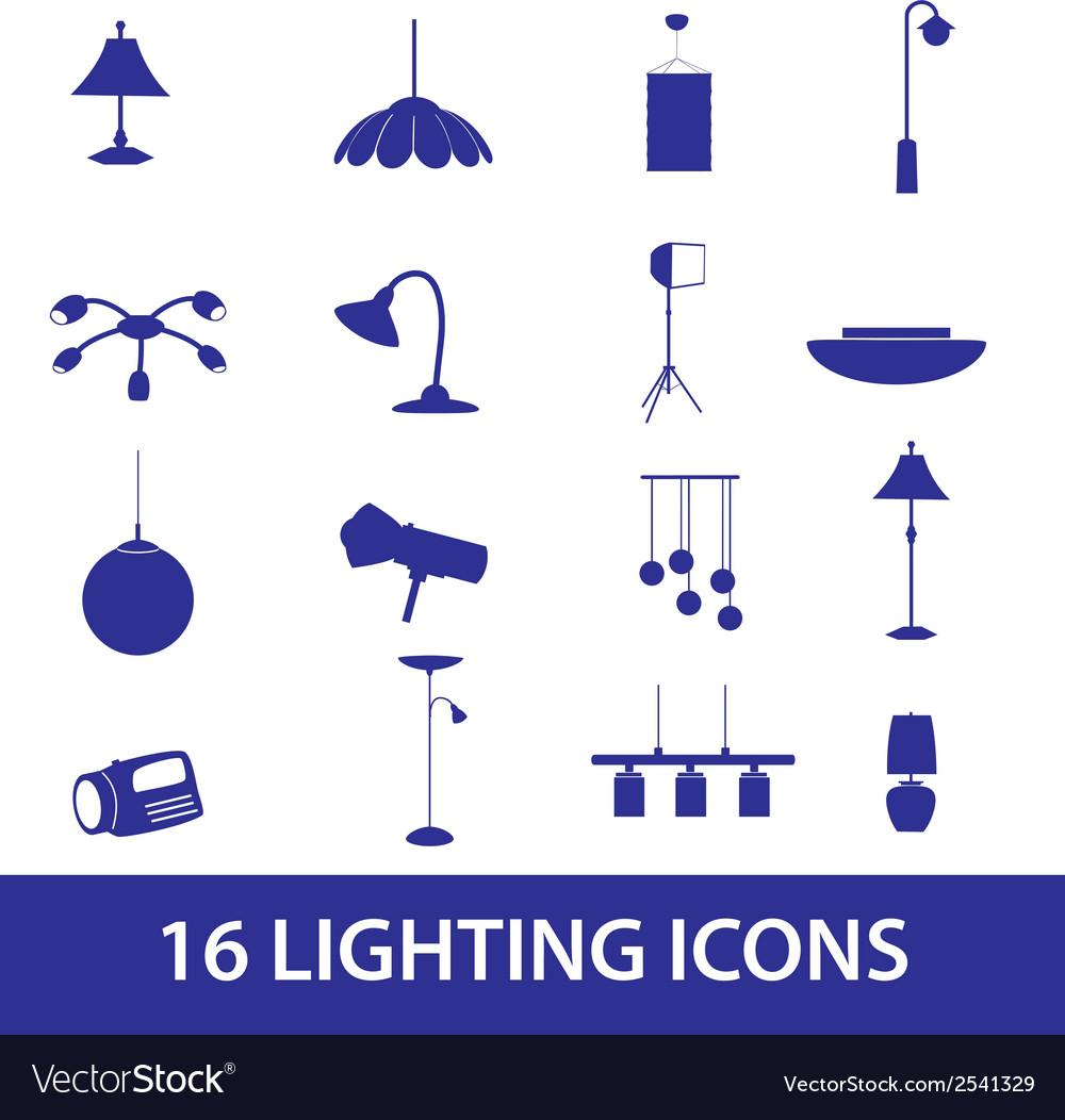 Lighting icons set eps10 vector