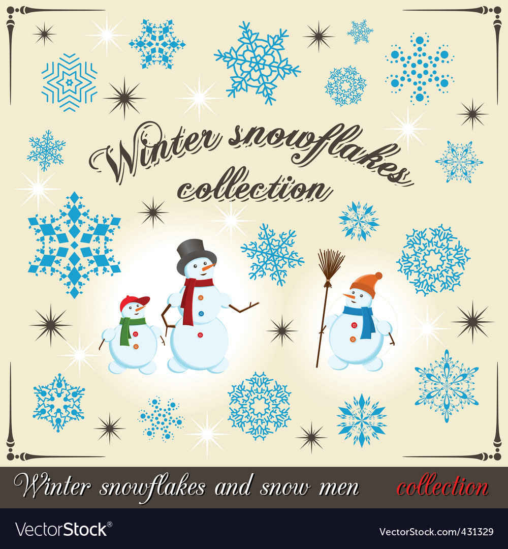 Winter collection 2 vector