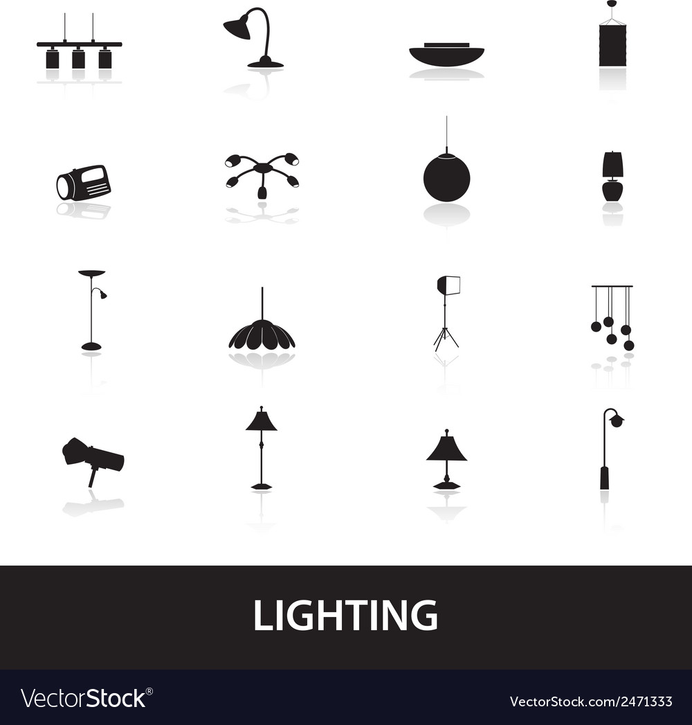 Lighting icons eps10 vector